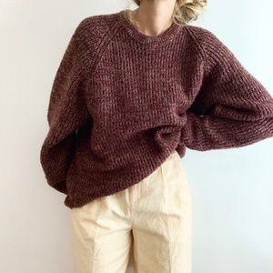 Vintage Chunky Dolman Knit Pullover